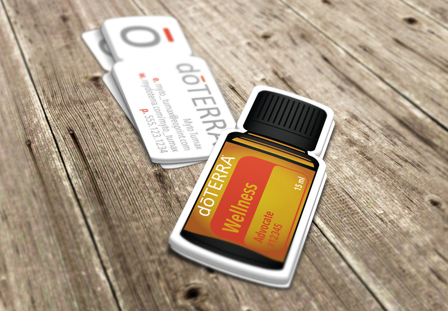 DoTERRA Bottle DieCut - Doterra business card template