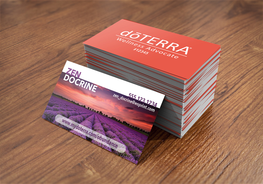 EssentialOilPrintcom DoTERRA Business Cards For Wellness Advocates - Doterra business card template